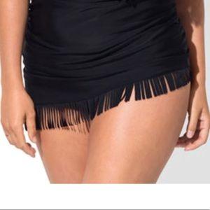 Swimsuits for All BLACK FRINGE SARONG SKIRTINI